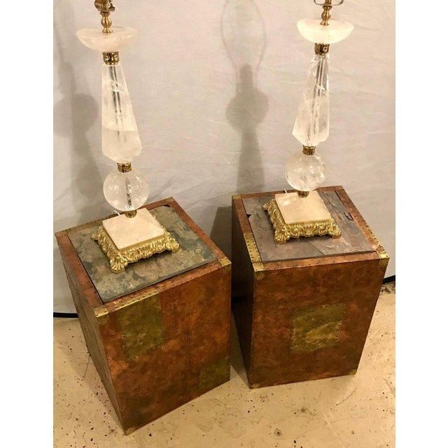 Paul Evans Pair of Mid-Century Modern Paul Evans Inspired End Tables or Pedestals For Sale - Image 4 of 12