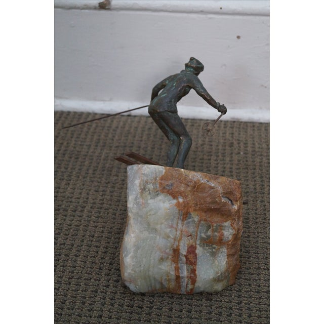 Curtis Jere Bronze Sculpture of Downhill Skier - Image 3 of 10