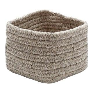 Natural Shelf Square Basket 11x11x8 Light Beige