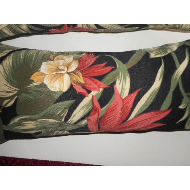 Dorothy Draper Style Palm Leaf & Orchid Pillows - a Pair - Image 5 of 8
