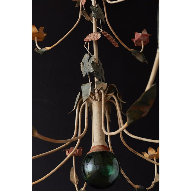 Rustic French Iron Twelve-Light Candle Chandelier For Sale - Image 10 of 13