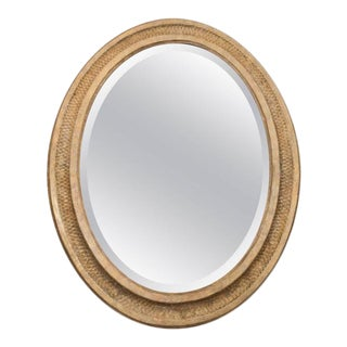 French Giltwood Oval Mirror For Sale