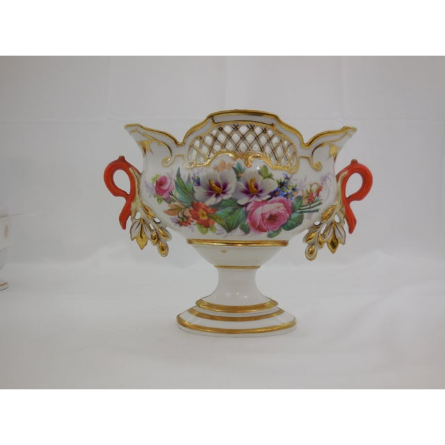 """Old Paris"" Center Bowl With Orange Handles For Sale - Image 5 of 5"