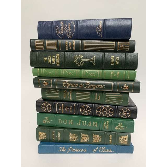 Illustration Easton Press Leather-Bound Classic Literature Book Collection - Set of 10 For Sale - Image 3 of 12