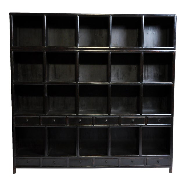 Impressive Chinese Display Cabinet With Twelve Drawers For Sale