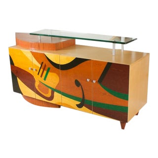 Modernist Abstract Credenza