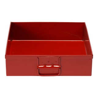 1950s Mail Sorting Tray, Refinished in Fire Engine Red For Sale