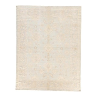 Jaipur Living Exeter Hand-Knotted Floral Cream & Light Blue Area Rug - 5′ × 8′ For Sale
