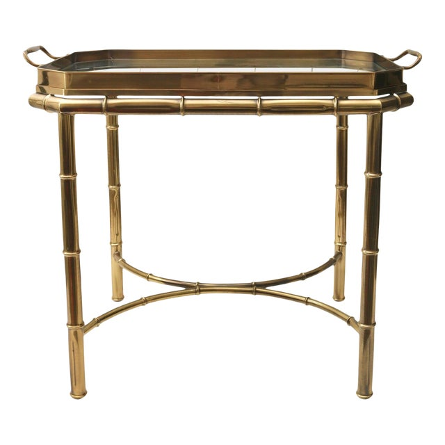 Vintage Mastercraft Tray Table Faux Bamboo For Sale