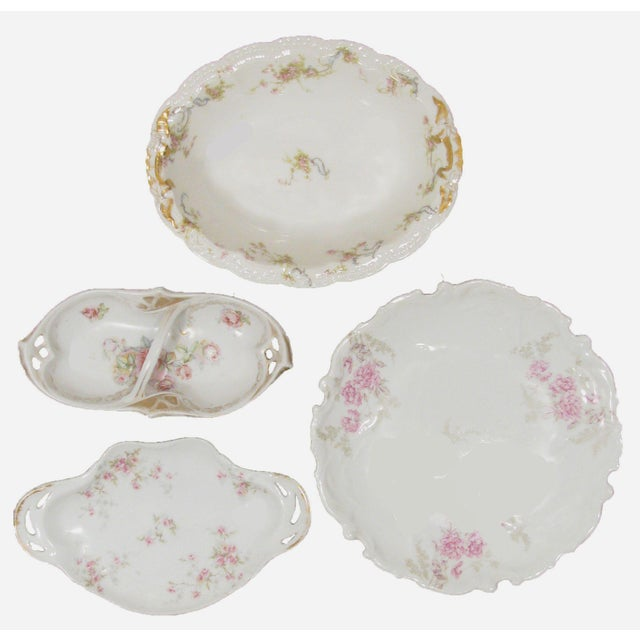 French Limoges Serving Pieces, S/4 For Sale - Image 9 of 9