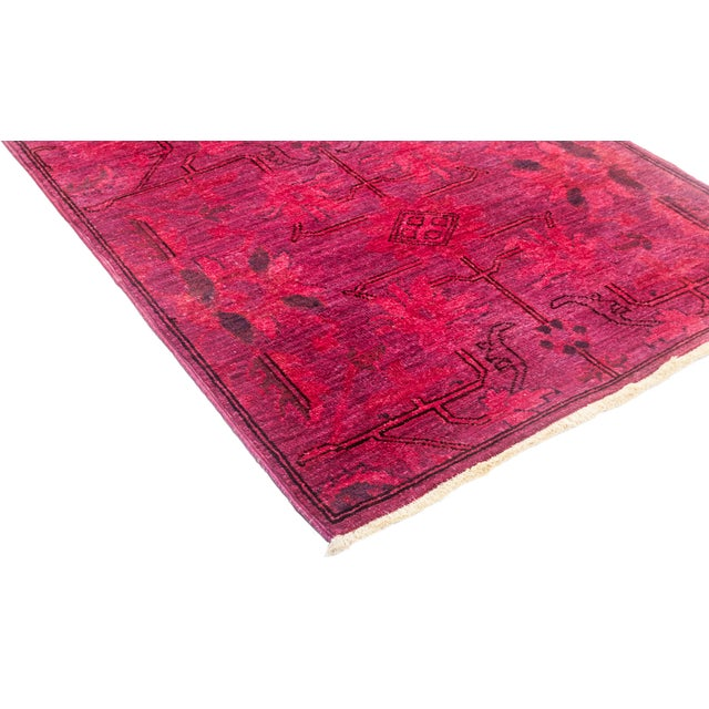 "Vibrance Hand Knotted Runner Rug - 2' 6"" x 7' 8"" - Image 2 of 4"