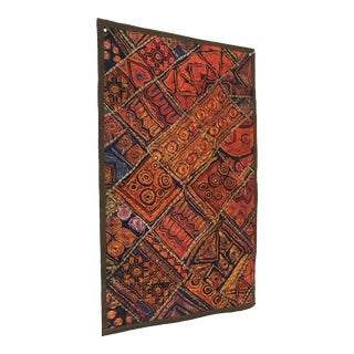 Vintage Pakistani Sindhi Embroidered Wall Hanging