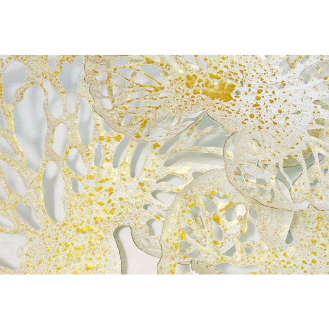 2010s White and Gold Lotus Iron Wall Sculpture by Fabio Ltd For Sale - Image 5 of 6