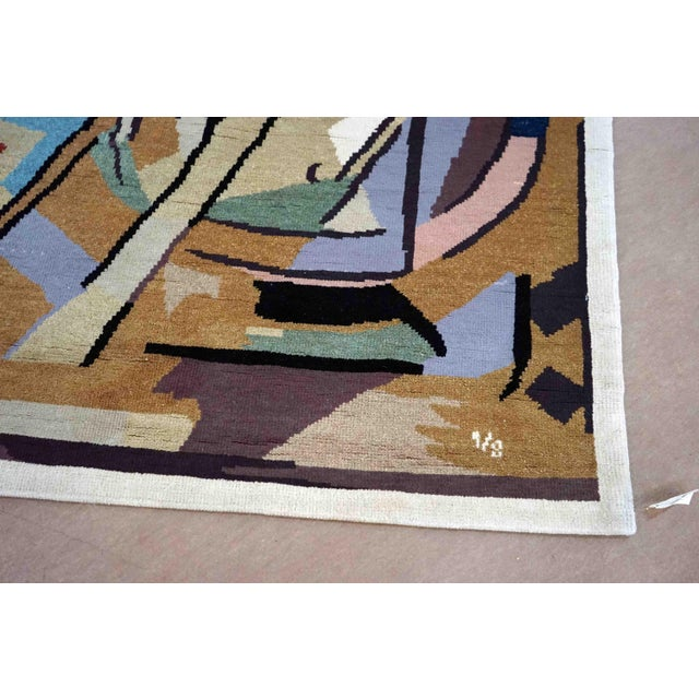 Limited Edition Artistic Handmade Wool Rug after Albert Gleizes (France, 1881-1953) Design N.39 hand knotted wool rug...