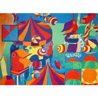 Bent Karl Jacobsen Vintage Abstract Circus Print For Sale