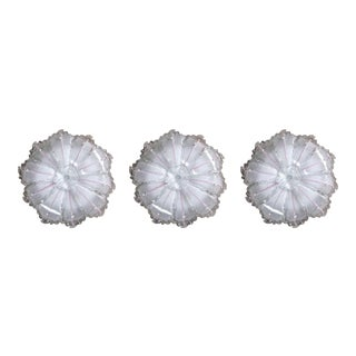 Murano Glass Organic Leaf Light Fixtures - Set of 3 For Sale