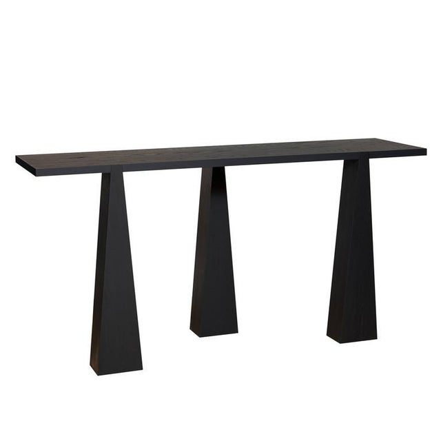 Mid-Century Modern Nylander Solid Oak Console Table For Sale - Image 3 of 4