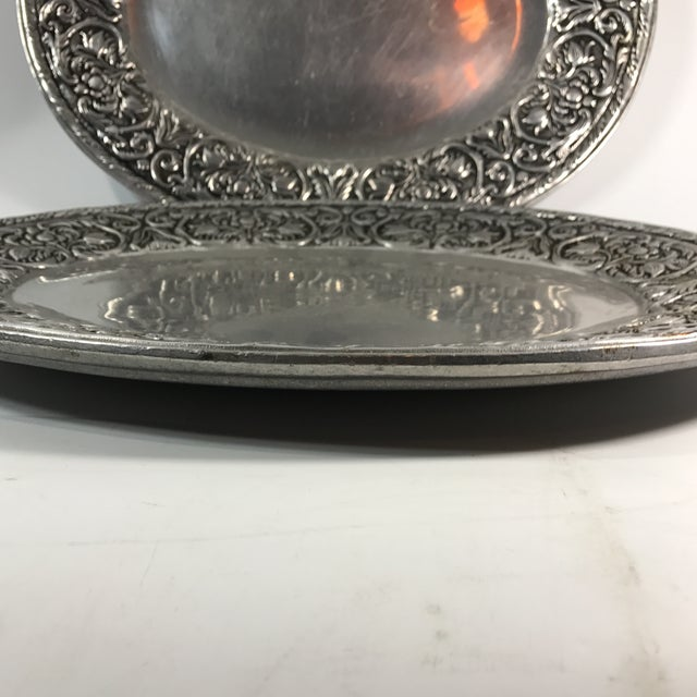 Wilton Armelate William & Mary Hollow Ware Tray For Sale - Image 4 of 5