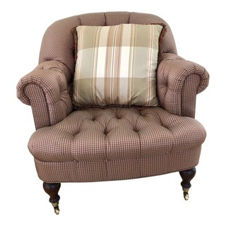 Lillian August Silk Tufted Chair