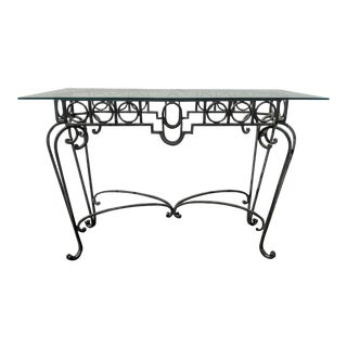 20th Century Art Deco Wrought Iron Console Table