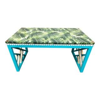 Boho Chic Style Decoupaged Writing Desk For Sale