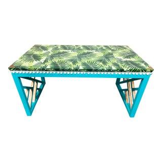 Boho Chic Style Decoupaged Writing Desk For Sale