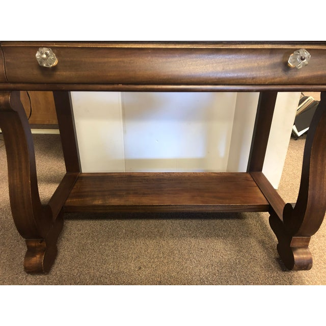 19th Century Early American Hersee Library Desk For Sale - Image 9 of 10