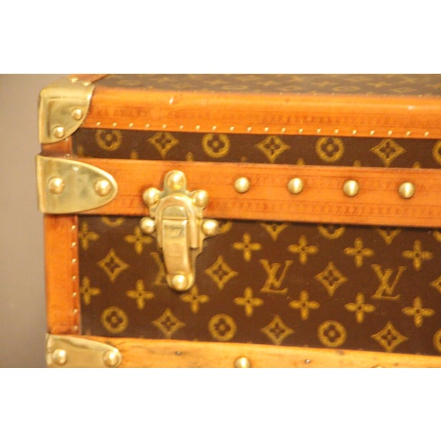 1930s Louis Vuitton Cabin Steamer Trunk For Sale - Image 10 of 13