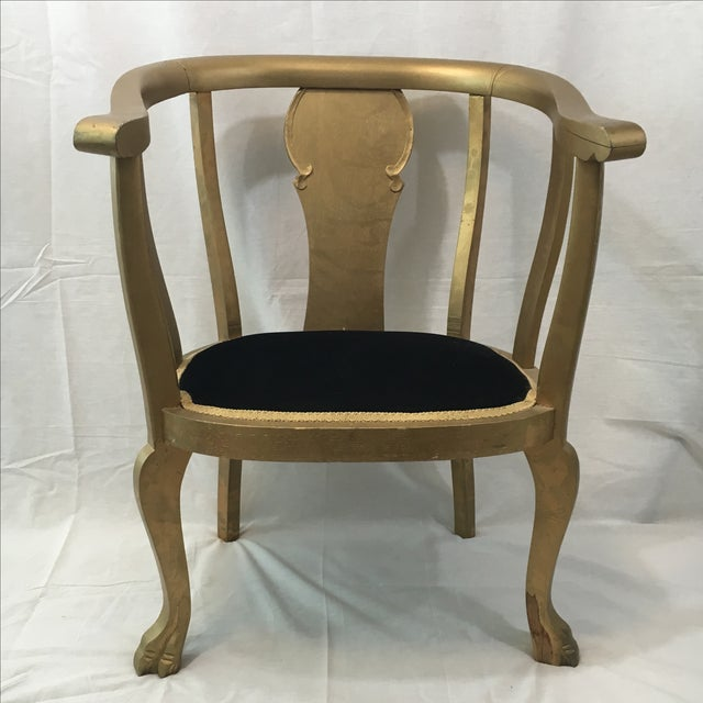 Gold Claw Foot Chair - Image 2 of 9