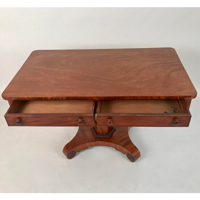 Rustic 1825 George IV Mahogany Writing Desk For Sale - Image 3 of 11