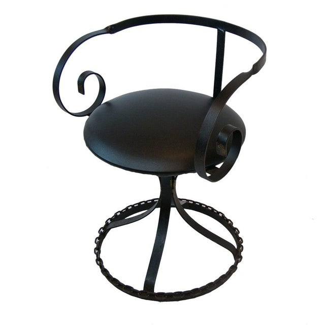 Marble-Top Chain Link Garden Patio Set in the Manner of George Mulhauser For Sale - Image 4 of 11