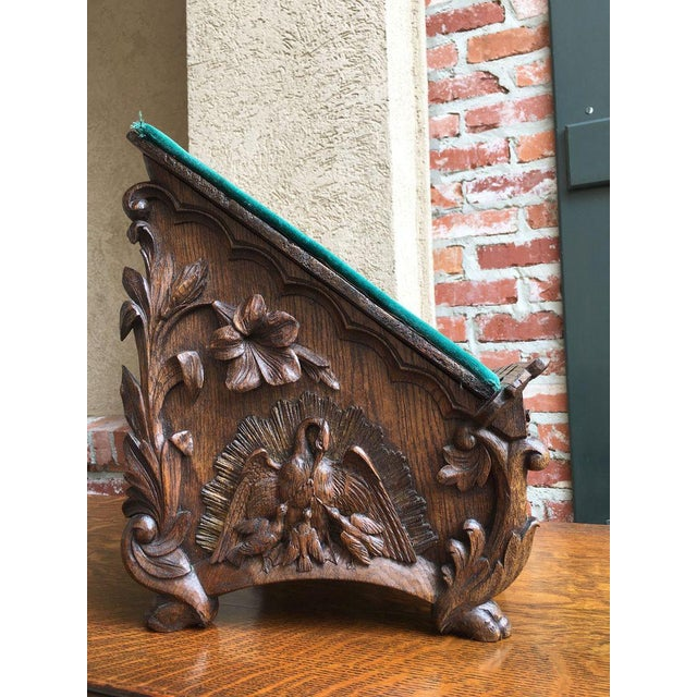 Late 19th Century Antique English Carved Oak Altar Stand For Sale In Dallas - Image 6 of 11
