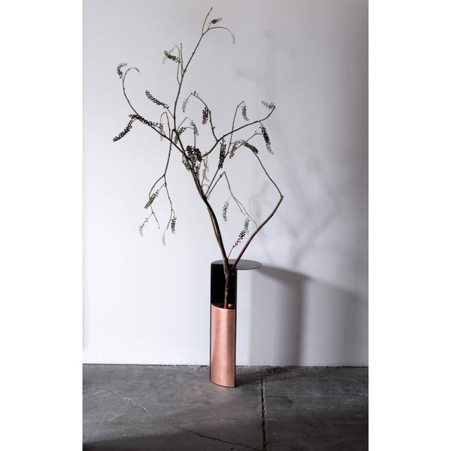 Umbrella Stand With Shelf in Blackened Steel and Copper by Birnam Wood Studio For Sale - Image 9 of 13