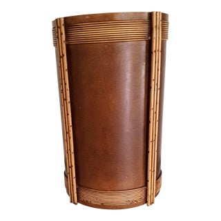 1935 Art Deco Trash Can For Sale