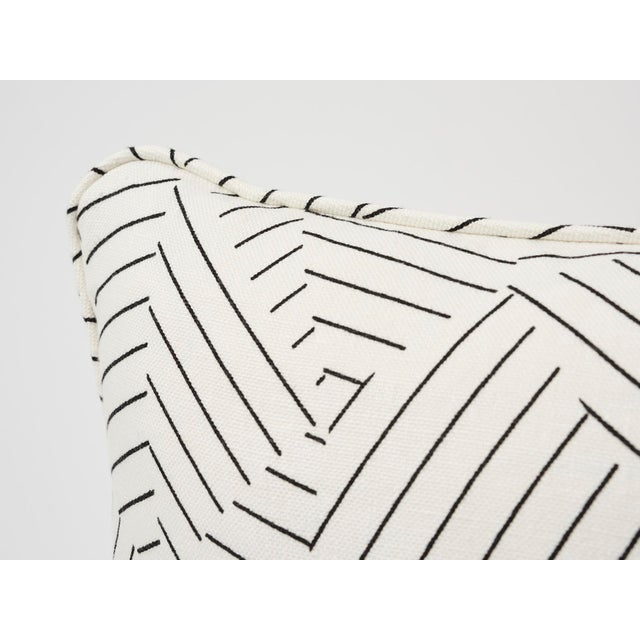 2010s Schumacher Pillow in Deconstructed Stripe Double-Sided Print For Sale - Image 5 of 8