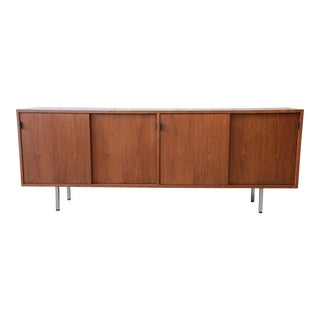 Florence Knoll Walnut Credenza Sideboard