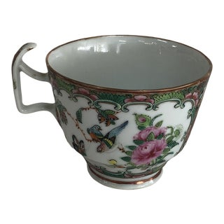 1860 Chinese Famille Rose Tea Cup For Sale