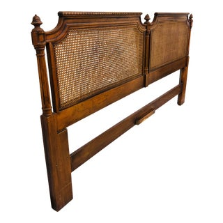Vintage French Style Cane Back Headboard by Henredon