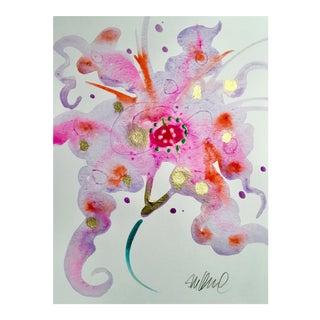 Original Stargazer Swirl Watercolor Painting For Sale