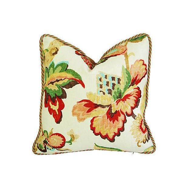 Designer Schumacher Kelmscott Manor Pillows - Pair - Image 4 of 7