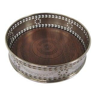 Silver-plate Wine Coaster Wood Insert
