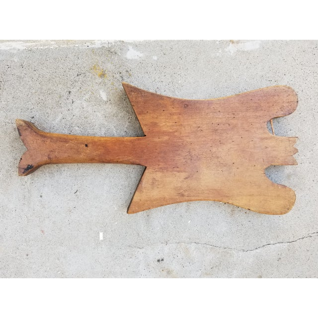 French Country Vintage Carved Herb Chopping Board For Sale - Image 3 of 6