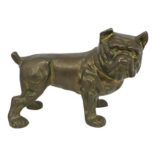 Brass Bulldog Doorstop