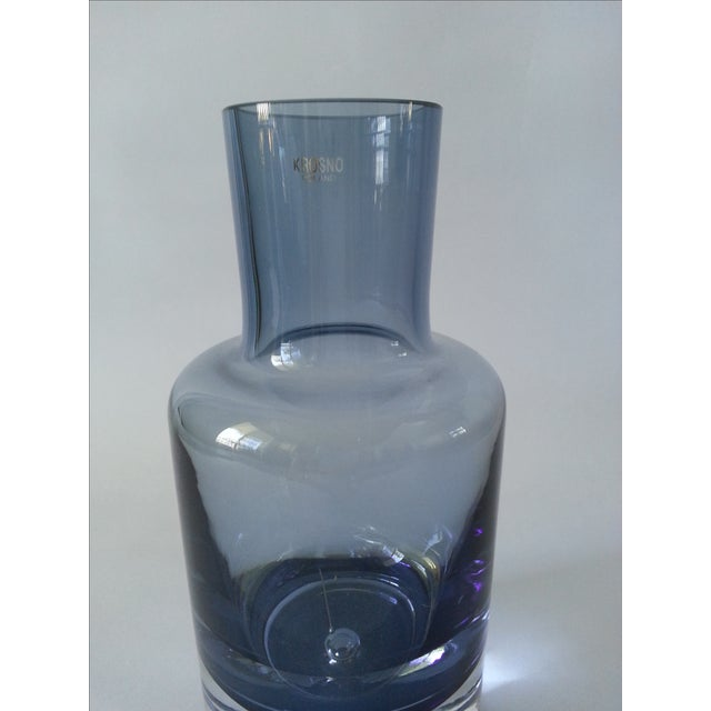 Krosno Poland Bubble Crystal Decanter For Sale - Image 5 of 8