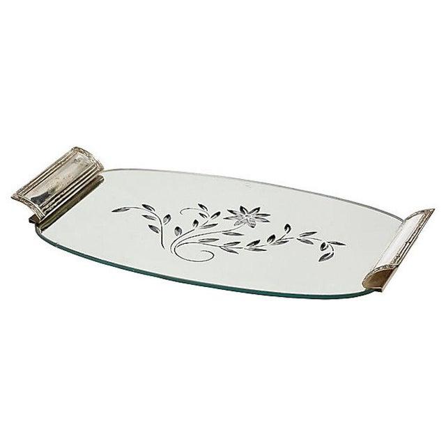 Art Deco Mirror Vanity Tray Jars Set Of 3 For Image 4