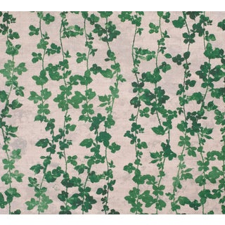 Green Brambles Print on Linen For Sale