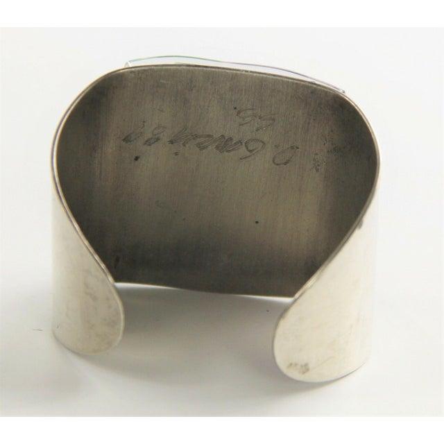 Modern 1989 David Garcia Fused Glass Artisan Cuff Bracelet For Sale - Image 3 of 7