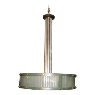 Aluminum and Bronze Bank Chandelier