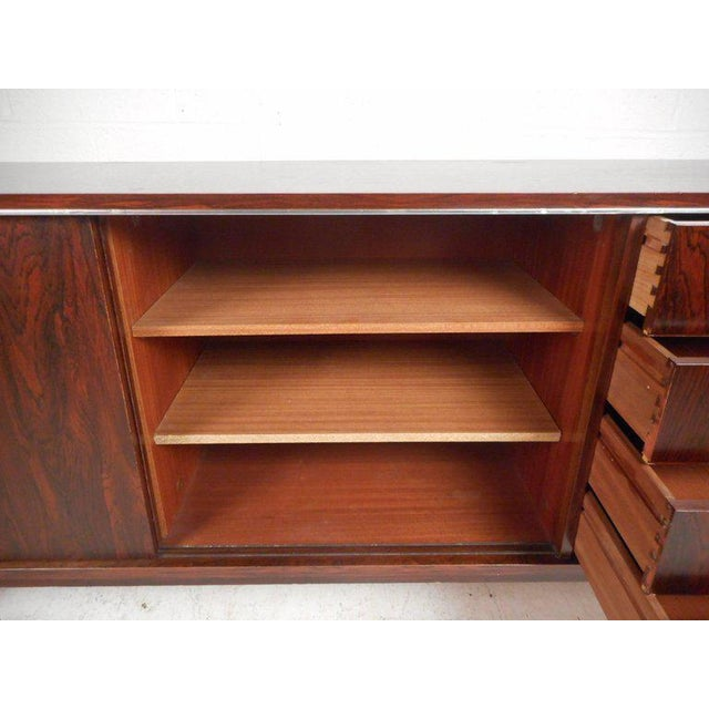 Royal Board of Sweden Mid-Century Rosewood Credenza For Sale In New York - Image 6 of 11