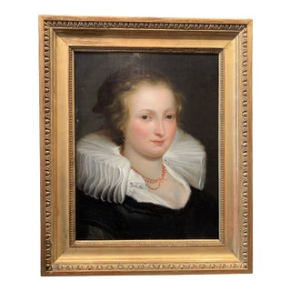 Early 19th Century Oil on Canvas Portrait Painting After Rembrandt For Sale